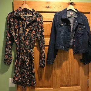 Cute Forever 21 Shirt dress xxl and Jean Jacket xl